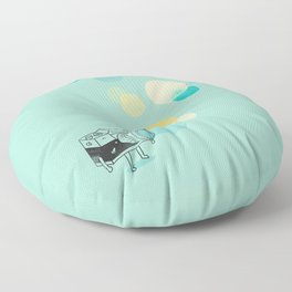 Memories like bubbles Floor Pillow