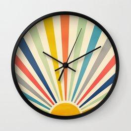 Sun Retro Art III Wall Clock