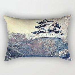 Spectacular Historic Castle East Asia UHD Rectangular Pillow