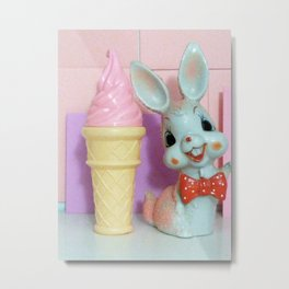 Ice Cream Kisses Metal Print