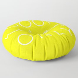 Good Vibes Only Yellow White Floor Pillow