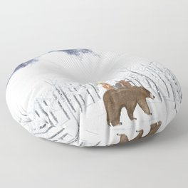 the white forest Floor Pillow