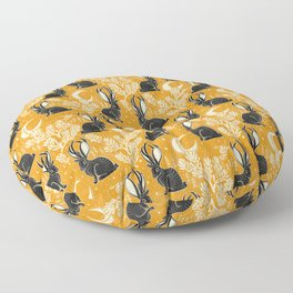 Jackalope - marigold and black  Floor Pillow