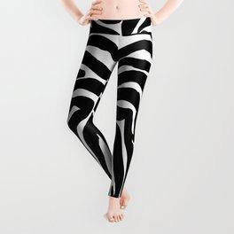 Zebra trendy design artwork animal exotic pattern Leggings