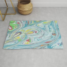 Colorful Marble Rug