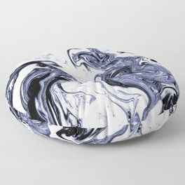 Marble Suminagashi watercolor pattern art pisces water wave ocean minimal design Floor Pillow