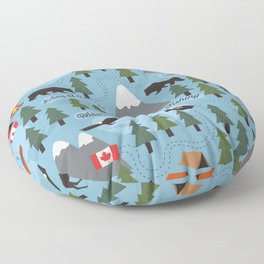 Day at the Lake - Blue Floor Pillow