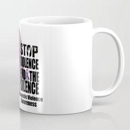 Domestic Violence Awareness Stop Violence End Silence T-Shirt Coffee Mug