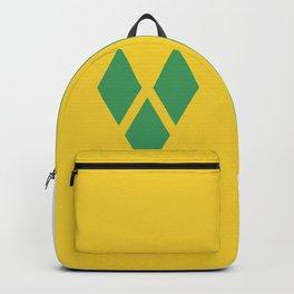 Saint Vincent and the Grenadines flag emblem Backpack