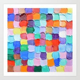 Polka Daub Checkers Art Print