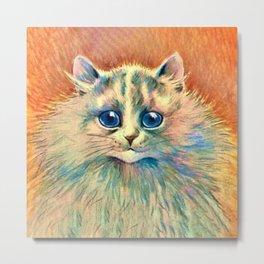 Big Happy Cat - Louis Wain Cats Metal Print