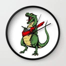 T-Rex + Keytar Wall Clock