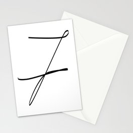 """"""" Singles Collection """" - One Line Minimal Number Seven Print Stationery Cards"""