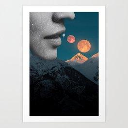Eating Cosmos Art Print