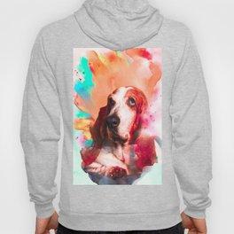 Basset hound Illustration Hoody