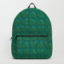 Jade hearts pattern Backpack