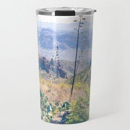 Vibrant Desert Landscape Travel Mug
