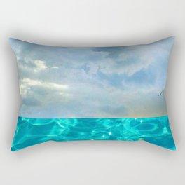 seascape 006: solo flight over swimming pool Rectangular Pillow
