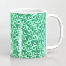 Green Concentric Circle Pattern Coffee Mug
