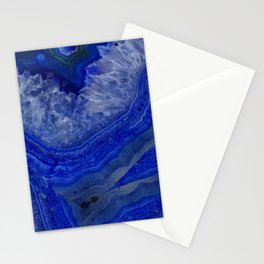 deep blue agate with peach background Stationery Cards