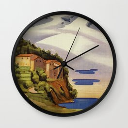 Rieti Sabina vintage Italian travel Wall Clock
