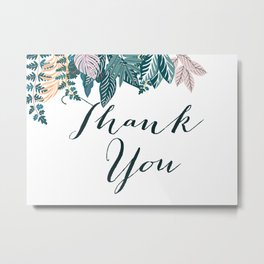 Botanical Thank You Metal Print