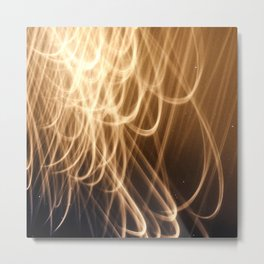 Glorious Streams of Divine Light Unfurled From The Heavens Metal Print