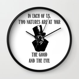 Good and Evil | Dr. Jekyll &amp Mr. Hyde Wall Clock