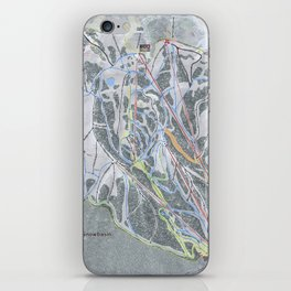 Snowbasin  Resort Trail Map iPhone Skin