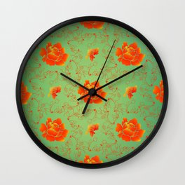 And No Other Flowers Wall Clock