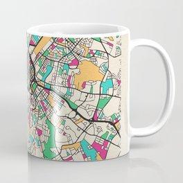 Colorful City Maps: Charlotte, North Carolina Coffee Mug