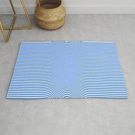 Blue Stripes Illusionary  Rug