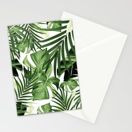 Tropical Jungle Leaves Pattern #12 #tropical #decor #art #society6 Stationery Cards
