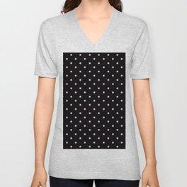 Dotted (Pink & Black Pattern) Unisex V-Neck
