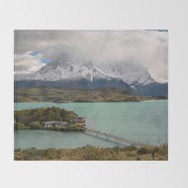Lake Pehoe Chile Throw Blanket