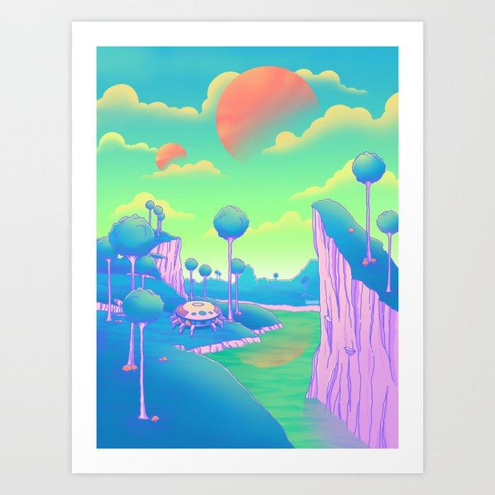 Planet Namek Kunstdrucke