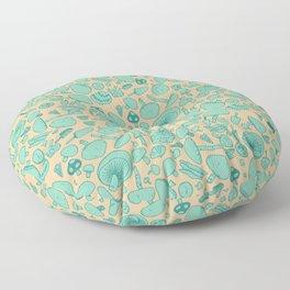 Fungi V2 Vintage Mushroom Pattern Floor Pillow