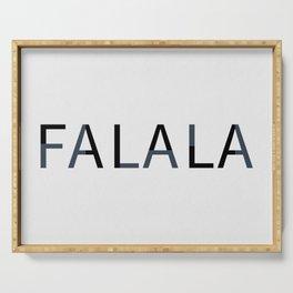 Falalal Christmas Art Serving Tray