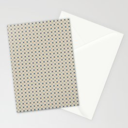 Blue & Beige Angled Polka Dot Grid Line Pattern Pairs To 2020 Color of the Year Chinese Porcelain Stationery Cards