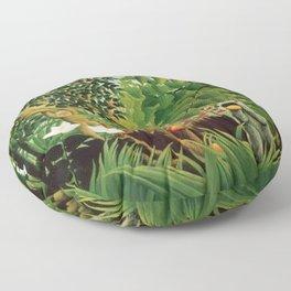 Henri Rousseau Exotic Landscape Floor Pillow