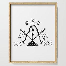 Damballa Voodoo Veve Symbol Serving Tray