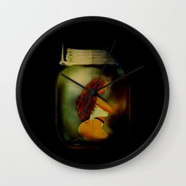 Lost Without You  (Lady In A Jar) Grunge  Wall Clock