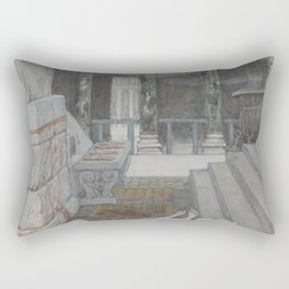 James Tissot - Zacharias Killed Between the Temple and the Altar Rectangular Pillow
