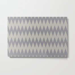 Zigzag Line Pattern Color of the Year 2021 Ultimate Gray 17-5104 and Lead Crystal 20-0087 Metal Print