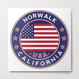 Norwalk, California, Metal Print
