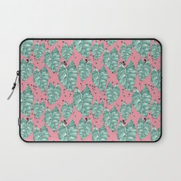 Watercolor tropical leaves pattern Laptop Sleeve