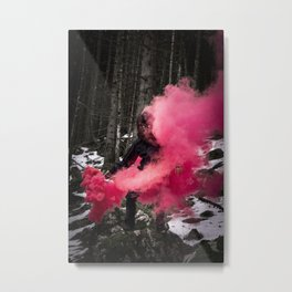 Black Yeti in the Forrest Metal Print