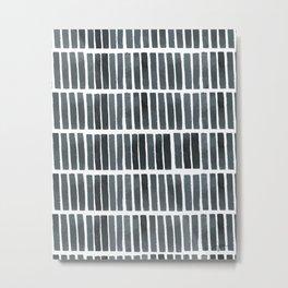 'indigo bars' - pattern Metal Print