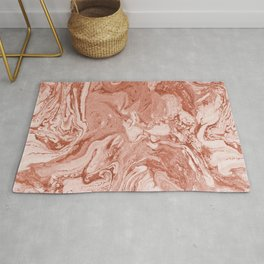 Marbled Clay Pot Ombre Terracota Spring Summer Rug