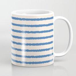Texture - Sea Blue Stripes Coffee Mug